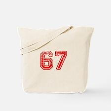 67-Col red Tote Bag