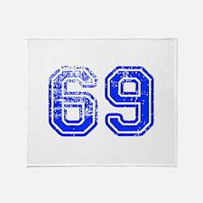 69-Col blue Throw Blanket