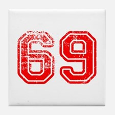 69-Col red Tile Coaster