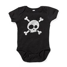 Whimsical Skull & Crossbones Baby Bodysuit