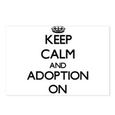 Keep Calm and Adoption ON Postcards (Package of 8)
