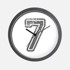 7-Col gray Wall Clock