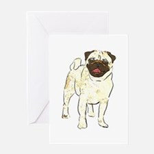 Happy Pug Greeting Card