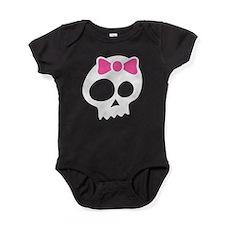 Skull with Bow Baby Bodysuit