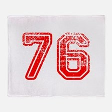 76-Col red Throw Blanket