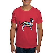 Cosmic Circles Cat T-Shirt