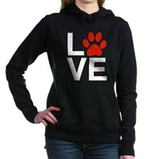 Love Dogs / Cats Pawprin Women's Hooded Sweatshirt