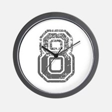 8-Col gray Wall Clock