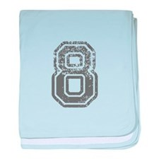 8-Col gray baby blanket