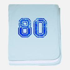 80-Col blue baby blanket