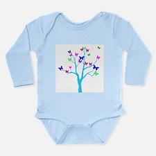 butterfly tree Long Sleeve Infant Bodysuit