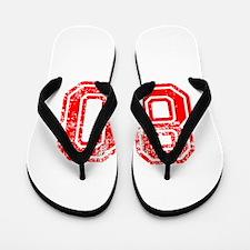 80-Col red Flip Flops