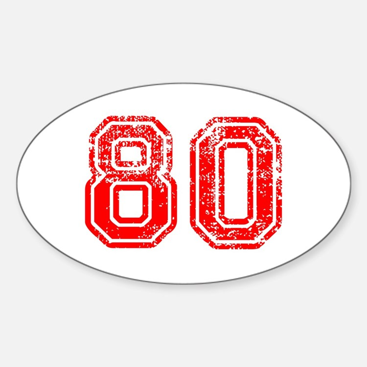 80-Col red Decal
