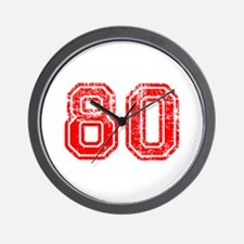 80-Col red Wall Clock