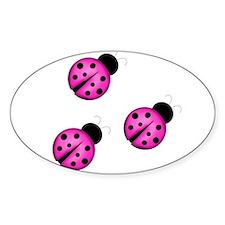 Pink Black Ladybugs Decal