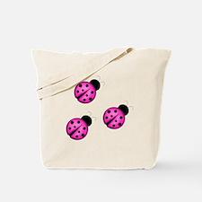 Pink Black Ladybugs Tote Bag