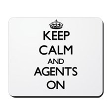 Keep Calm and Agents ON Mousepad