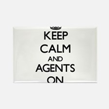 Keep Calm and Agents ON Magnets