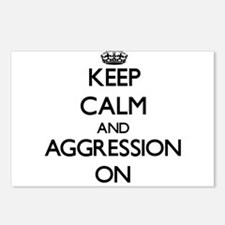 Keep Calm and Aggression Postcards (Package of 8)
