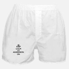 Keep Calm and Aggression ON Boxer Shorts