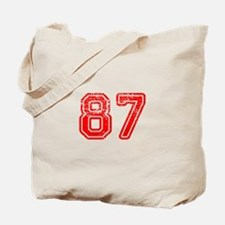 87-Col red Tote Bag