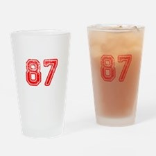 87-Col red Drinking Glass