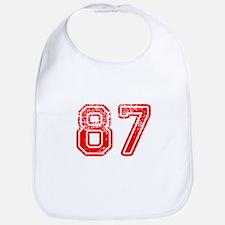 87-Col red Bib