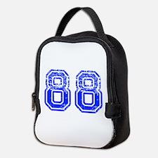 88-Col blue Neoprene Lunch Bag