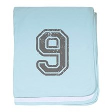 9-Col gray baby blanket