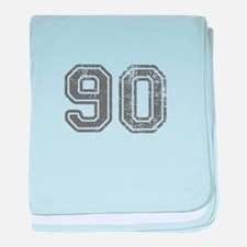 90-Col gray baby blanket