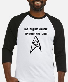 Live Long and Prosper Mr Spock Baseball Jersey