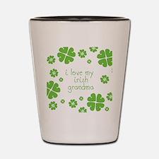 I Love My Irish Shot Glass