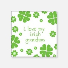 "I Love My Irish Square Sticker 3"" x 3"""