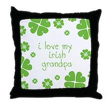 I Love My Irish Throw Pillow