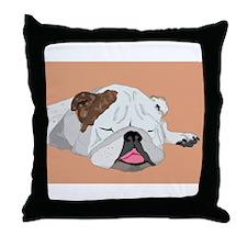Ella Asleep Throw Pillow