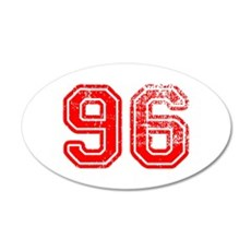 96-Col red Wall Decal