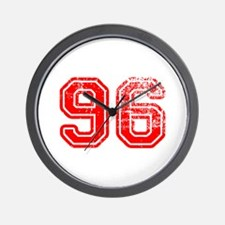 96-Col red Wall Clock