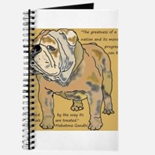 ENGLISH BULLDOG 2 QUOTE TILE Journal