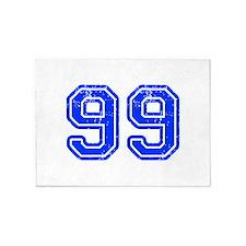 99-Col blue 5'x7'Area Rug