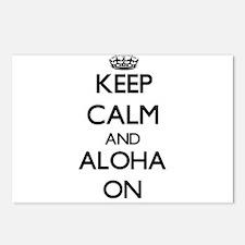 Keep Calm and Aloha ON Postcards (Package of 8)