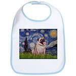 Starry Night and Pug Bib