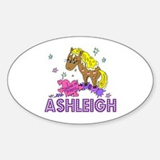 I Dream Of Ponies Ashleigh Oval Decal