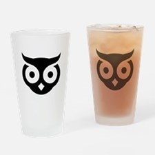 Old Wise Owl Drinking Glass