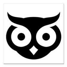 """Old Wise Owl Square Car Magnet 3"""" x 3"""""""