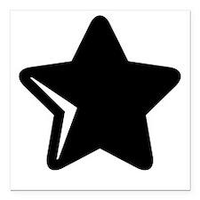 "Simple Star Square Car Magnet 3"" x 3"""
