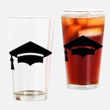 Graduation Cap Drinking Glass
