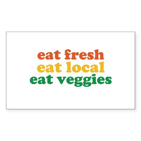 Fresh Local Veggies Sticker