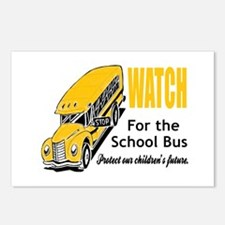 Watch for School Bus Postcards (Package of 8)