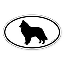 Belgian Sheepdog Oval Decal