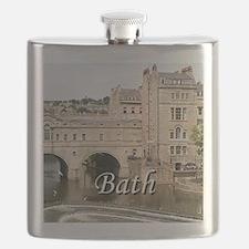 Pulteney Bridge, Avon River,Bath, England 2 Flask